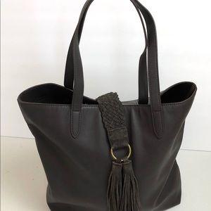 Lucky Brand Shoulder Bag Tassle Boho Brown Leather
